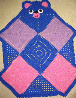 Crochet Bearghan Teddy Bear Afghan Pattern