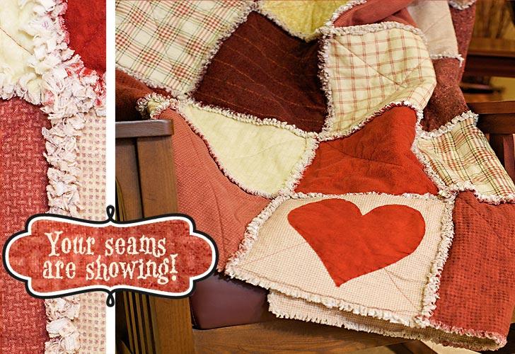 Valentine's Heart Rag Quilt Pattern