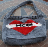 Mom Tattoo Knitted Bag