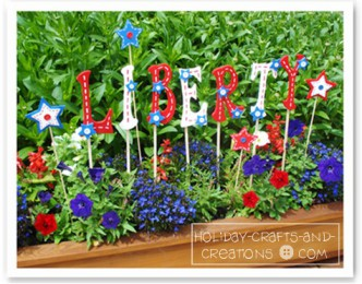 Patriotic Garden Words