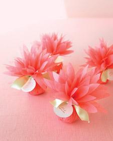 Tissue Paper Dahlias Flowers Wedding Favors