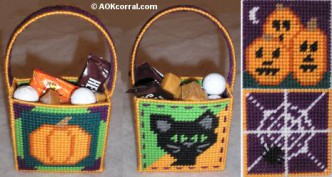 Plastic Canvas Halloween Treat Bags