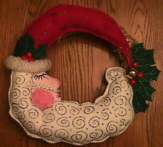 Sleeping Santa Wreath