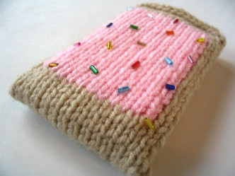 Knitted Pop Tart Cell Phone Cozy