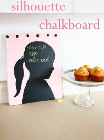 Painted Silhouette Chalkboard Tutorial