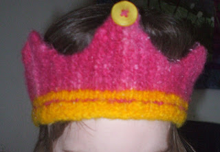 Little Princess Felted Crown Knitting Pattern