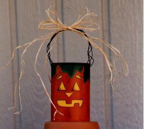 Tin Painted Pumpkin