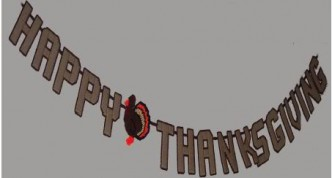 Thanksgiving Banner Plastic Canvas Pattern
