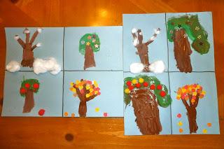 Apple Tree Seasons Kids Craft