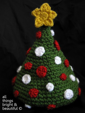 Christmas Tree Baby Hat Crochet Pattern