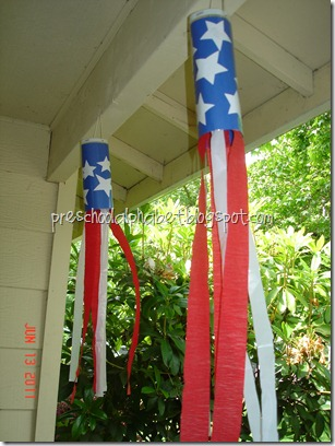 Red, White and Blue Windsock Kids Craft