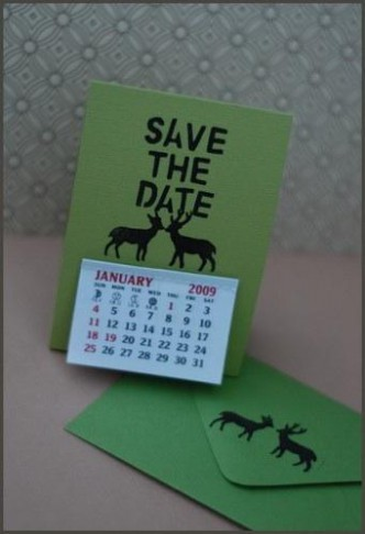 Handmade Wedding Save the Date Calendar