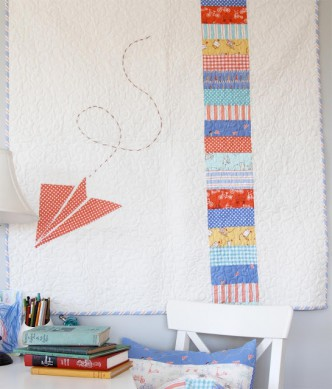 Paper Airplane Baby Quilt Pattern