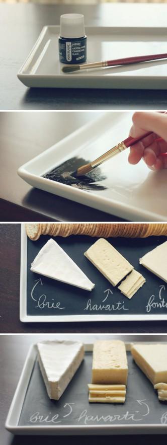 DIy Chalkboard Serving Platter Tutorial