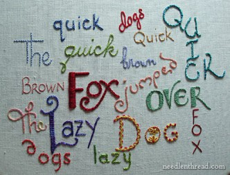 Hand Embroidery Lettering Tutorials