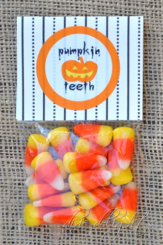 Pumpkin Teeth Printable