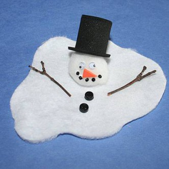 Melting Snowman Kids Winter Craft