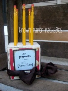 Pencil Block Teacher Gift