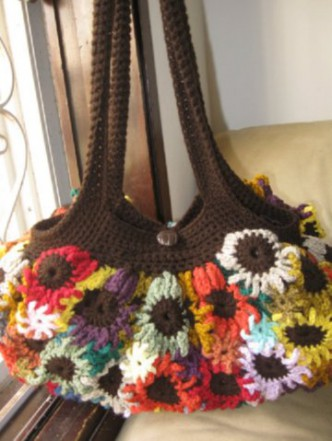Crocheted Flower Purse Pattern