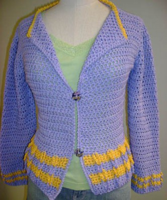 Free Cotton Cardigan Crochet Pattern