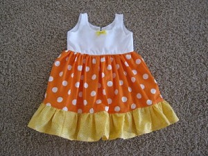 Candy Corn Girls Dress