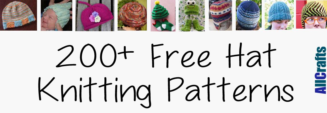 200+ Free Hat Knitting Patterns