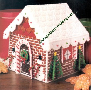 Gingerbread Goodie House Plastic Canvas Pattern