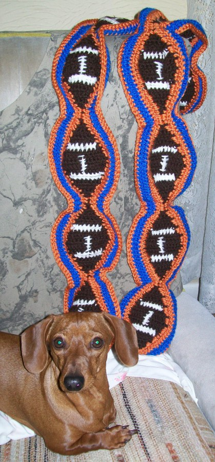 Free Crochet Team Scarf Patterns : Team Football Scarf Free Crochet Pattern ? AllCrafts Free ...