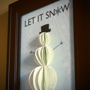 Handmade Christmas Decoration Snowman