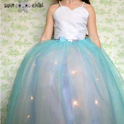 Light-Up Girls Princess Dress Tutorial