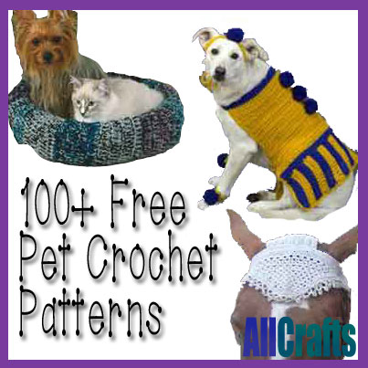 100+ Free Pet Crochet Patterns