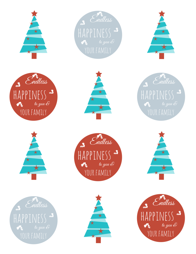 Printable Modern Christmas Tags