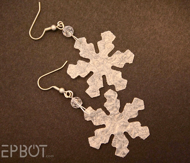 Winter Snowflake Bubble Wrap Earrings