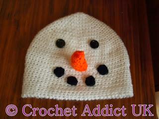 Snowman Beanie Hat Free Crochet Pattern