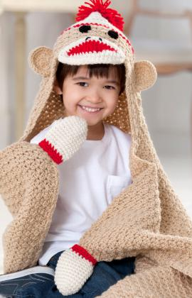 Sock Monkey Blanket Free Crochet Pattern