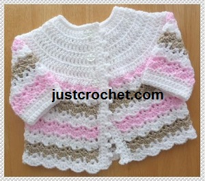 Crochet Baby Sweater : Keep baby warm and cozy in this Pretty Baby Sweater Crochet Pattern ...