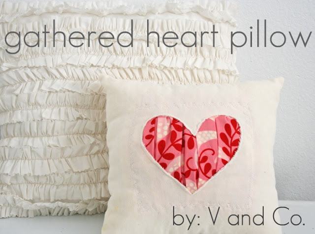 Gathered Heart Pillow Sewing Tutorial
