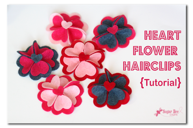 Heart Flower Clips Tutorial