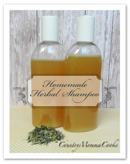 Homemade Herbal Shampoo Recipe