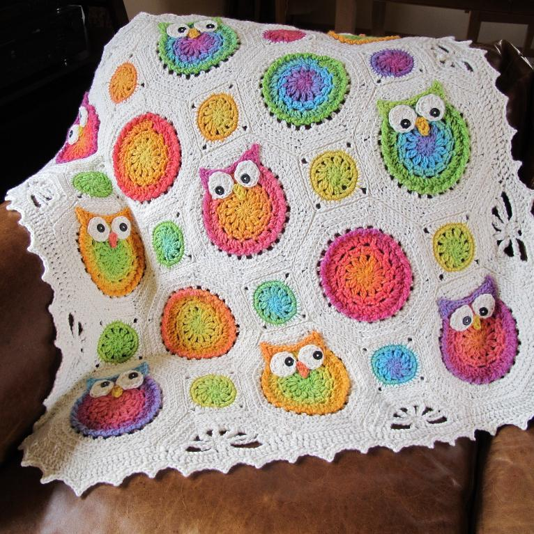 Crochet Patterns Free Owl : Owl Obsession Crochet Blanket PatternAllCrafts Free Crafts ...