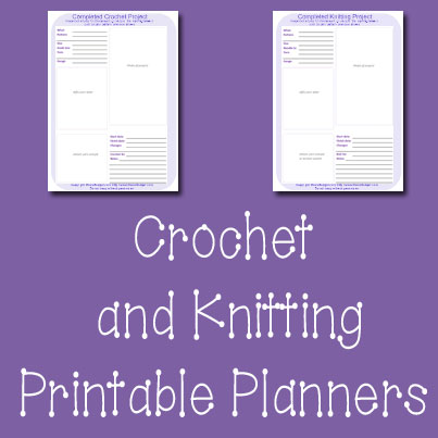 Crochet and Knitting Printable Planner Pages