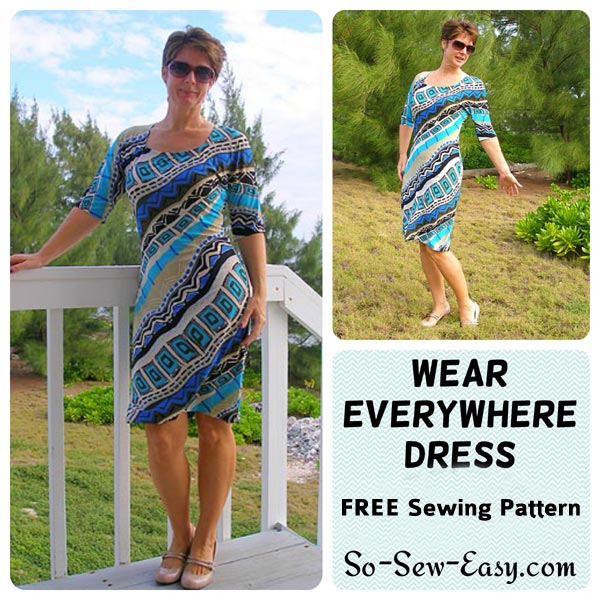 Easy Knit Dress Sewing Pattern