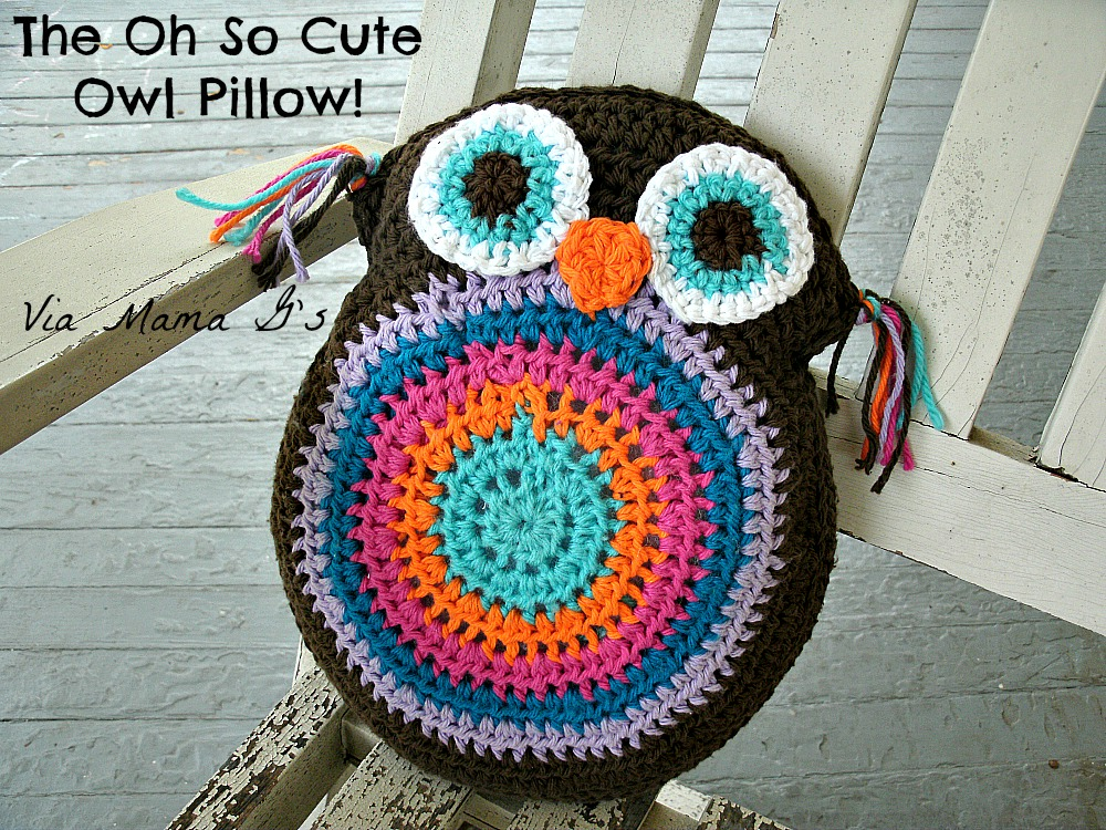 Owl Pillow Free Crochet Pattern
