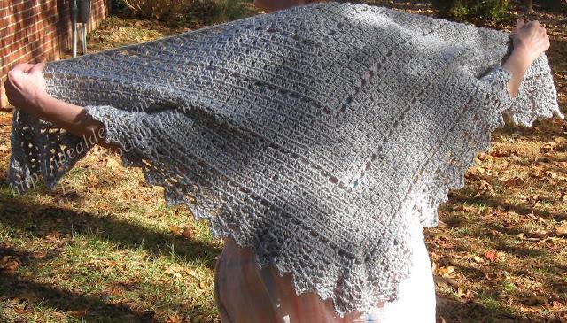 Simple Box Stitch Shawl Crochet Pattern