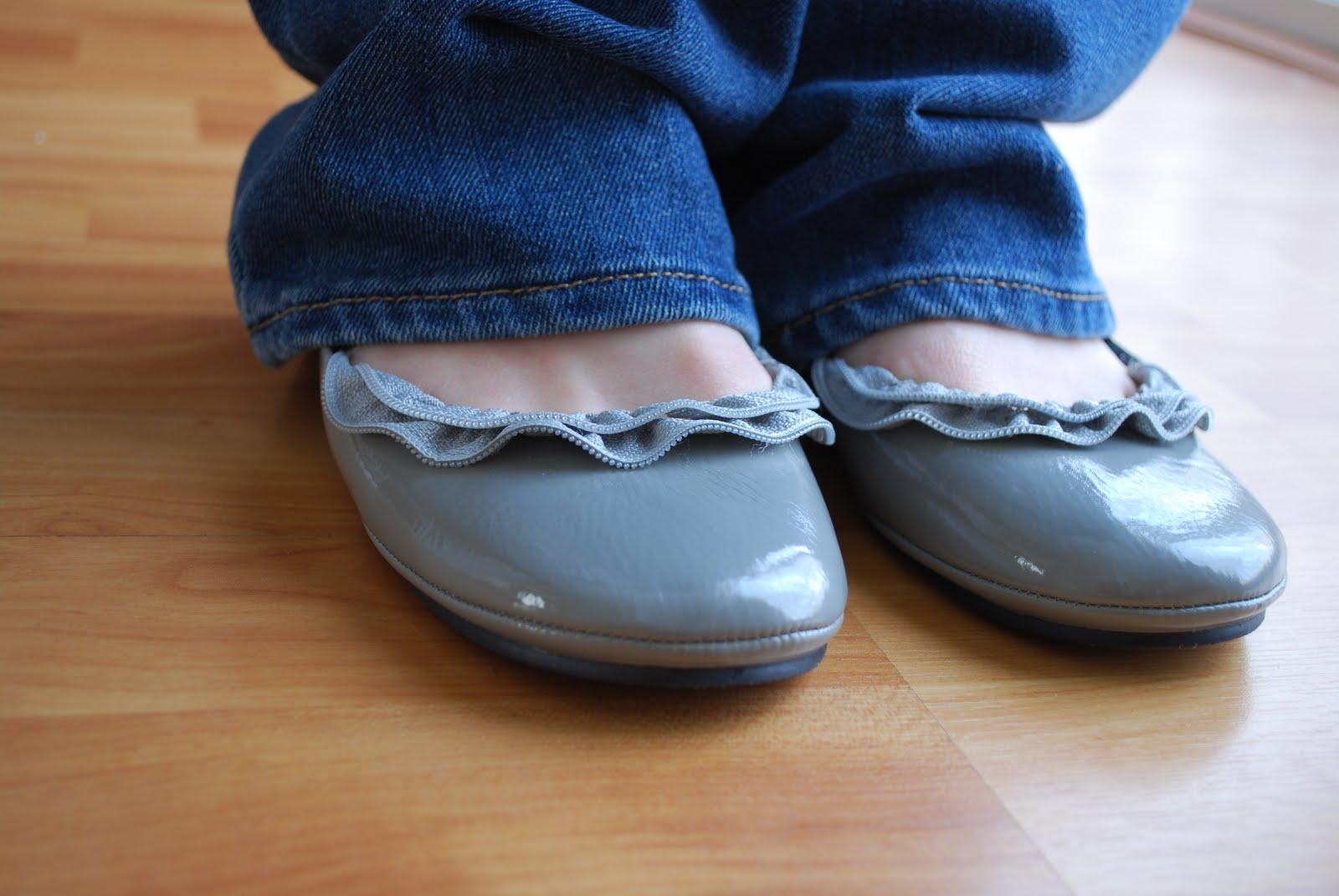 Как переделать балетки своими руками в джинсовые