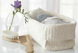Simple Spa Basket Crochet Pattern