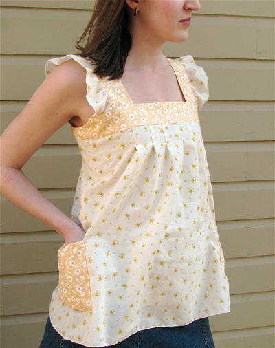 Spring Ruffle Top Sewing Tutorial
