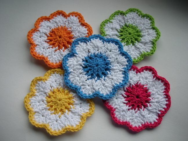 Crocheting Coasters : Big Flower Coaster Free Crochet Pattern Pictures to pin on Pinterest