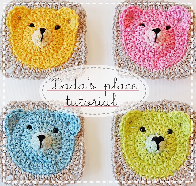 Teddy Bear Granny Square Tutorial