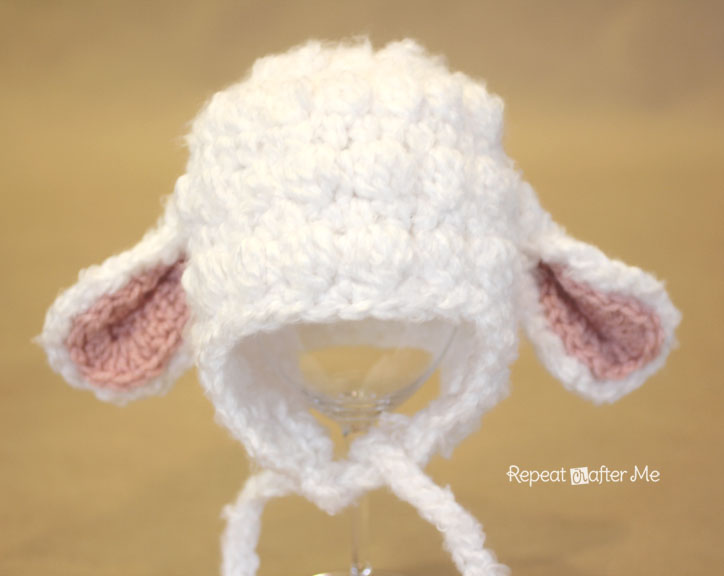 Crochet Stitches Wiki : crochet some cuteness with this crochet lamb hat pattern perfect for ...